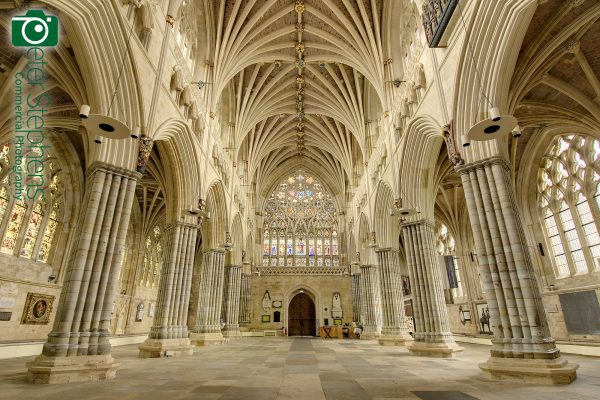 The Nave at Exeter Cathedral without the furniture