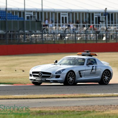 Jenson Button in the Mercedes Benz AMG pace car at Silverstone 10th July 2010