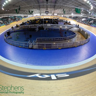 Fisheye view of the Manchester Velodrome