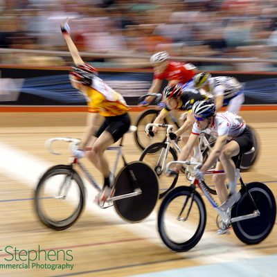 Racing at the Manchester Velodrome