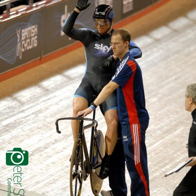 Chris Hoy at the Manchester Velodrome