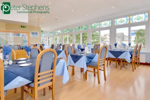 The dinning room at the Marrine Hotel in Paignton