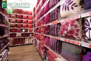 Photographs of the new Dunelm Mill store opening in Exeter on Thursday 12th January 2012.