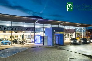 Mercedes-Benz Exeter Showroom photographed in the magic minute