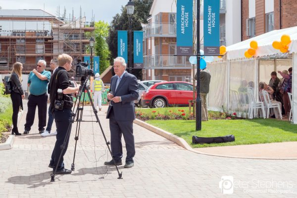 Peter Sissons being interviewed by the E&E
